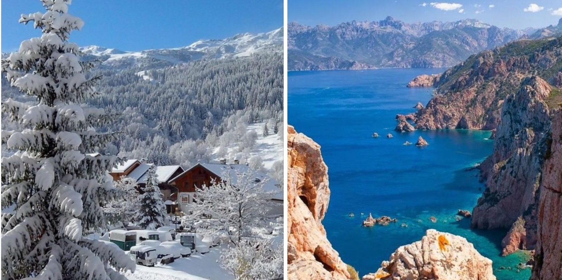 SkiMaquis wintersportdeluxe ontdekcorsica luxe wintersport Corsica vakantie skivakantie sneeuw zon ski maquis